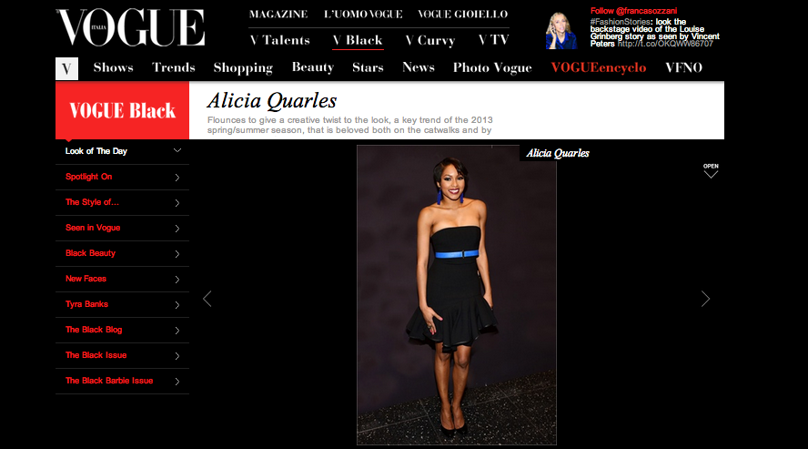 Alicia Quarles - Look of the Day on Vogue.it